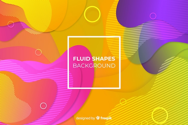 Kleurrijke gradiënt vloeibare vormen achtergrond