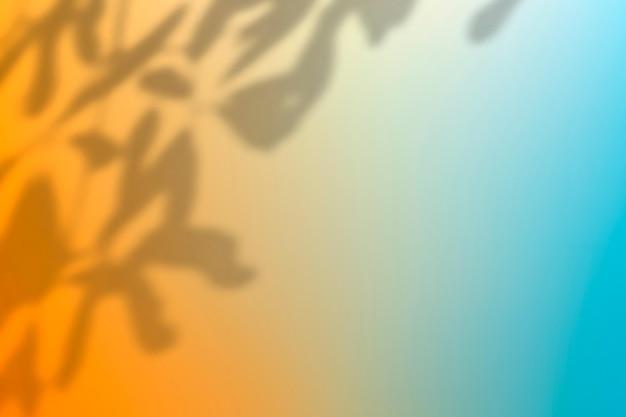 Kleurrijke gradiëntachtergrondvector met bladschaduw