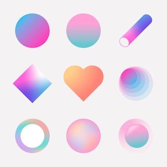 Kleurrijke gradiëntcollectie