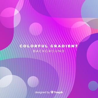 Kleurrijke gradiente achtergrond