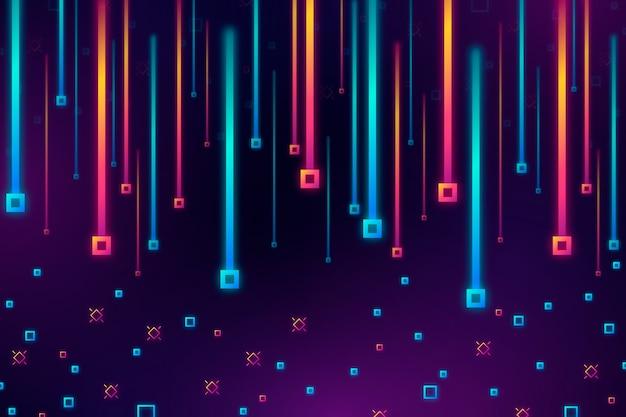 Kleurrijke gradiëntregen van vierkantenachtergrond