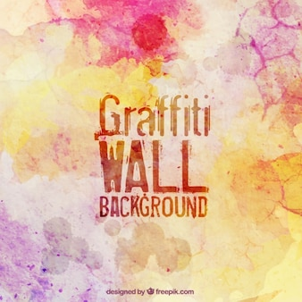 Kleurrijke graffiti muur
