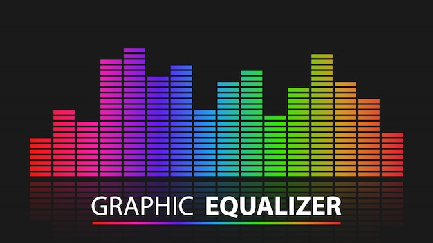 Kleurrijke grafische equalizersamenvatting