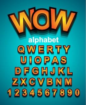 Kleurrijke grappige eenvoudige lettertype voor cartoon project, kind evenement