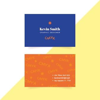 Kleurrijke grappige grafische ontwerper visitekaartjesjabloon