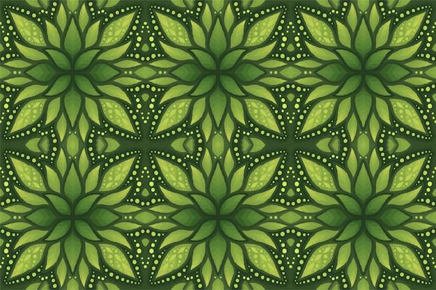 Kleurrijke groene kunst met bloemen naadloos patroon