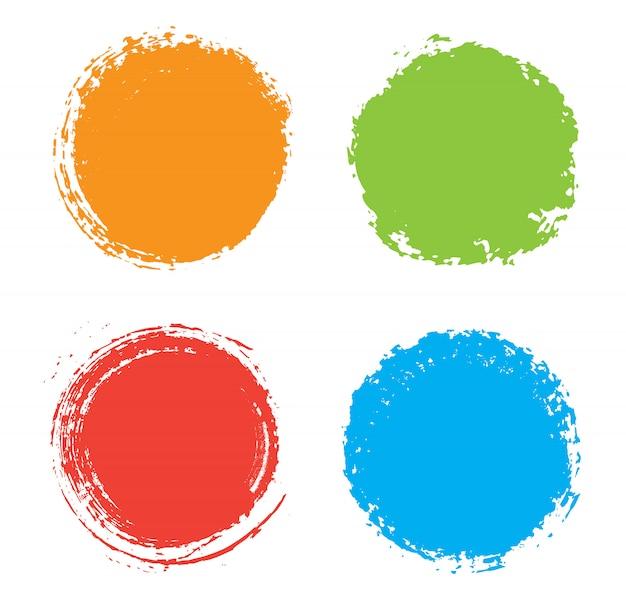 Kleurrijke grunge cirkels