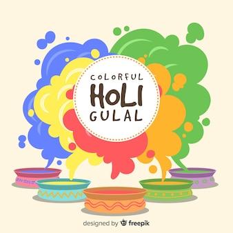 Kleurrijke gulal holi festival achtergrond