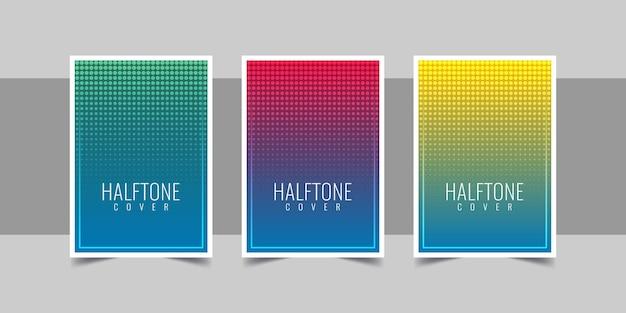 Kleurrijke halftone achtergronden instellen