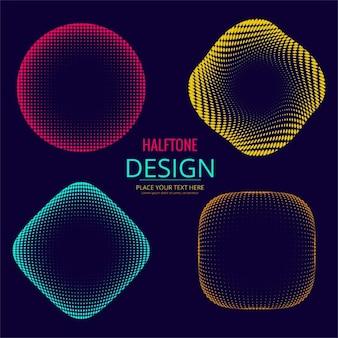 Kleurrijke halftone design