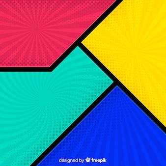 Kleurrijke halftone komische achtergrond