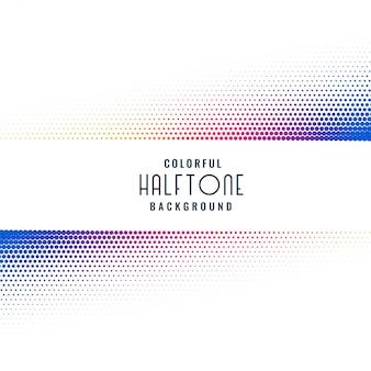 Kleurrijke halftone patroon ontwerp achtergrond