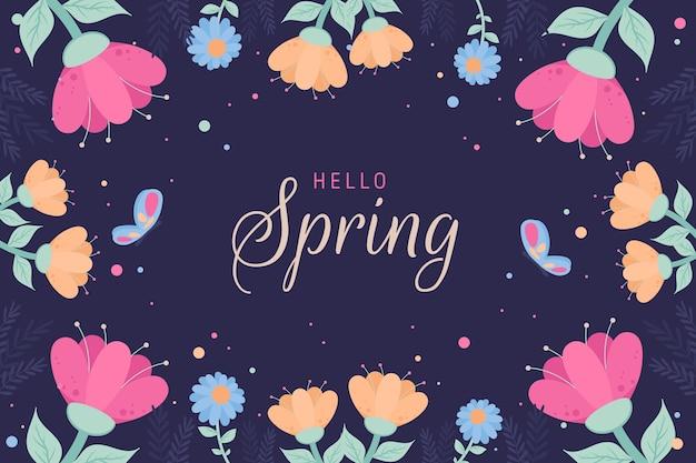 Kleurrijke hallo lente