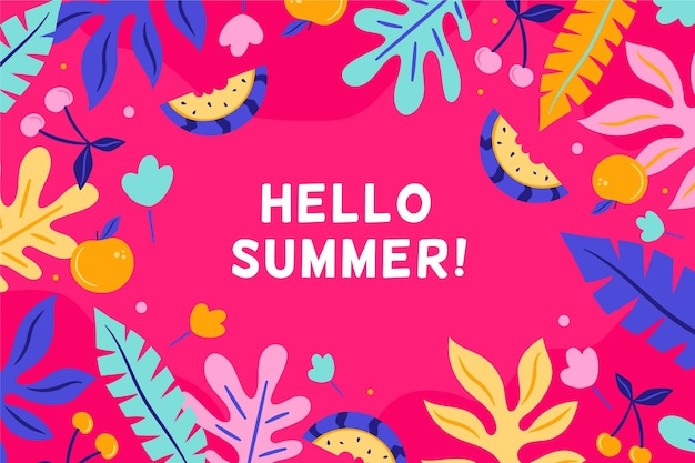 Kleurrijke hallo zomer achtergrond