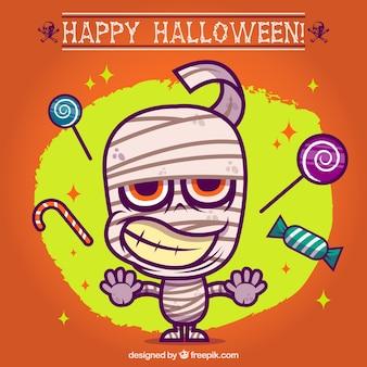 Kleurrijke halloween brij