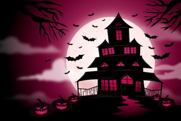 Kleurrijke halloween-ontwerpachtergrond