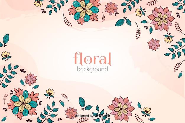 Kleurrijke hand getekend floral achtergrond