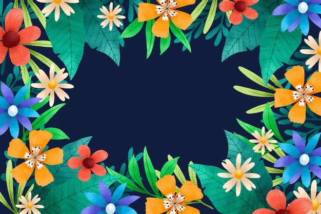 Kleurrijke hand getekend florale achtergrond
