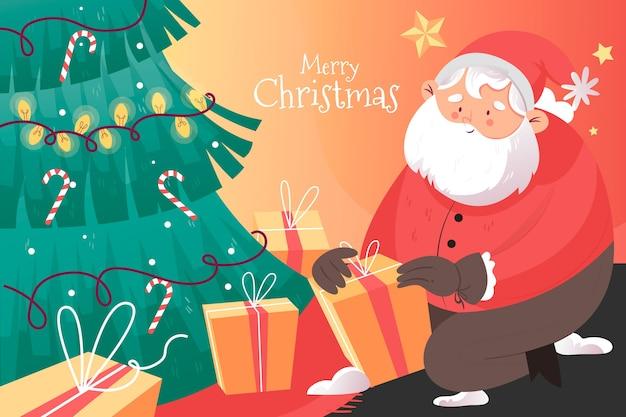 Kleurrijke hand getekend kerst achtergrond