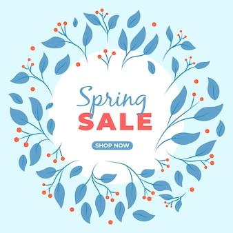 Kleurrijke hand getrokken lente verkoop