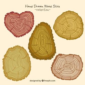Kleurrijke hand getrokken logs