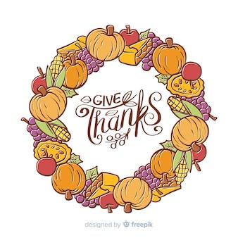 Kleurrijke hand getrokken thanksgiving dayachtergrond