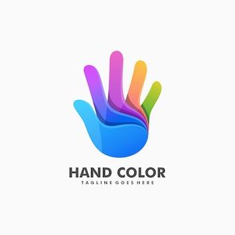 Kleurrijke hand illustratie vector