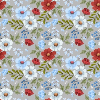 Kleurrijke hand loting bloemen ontwerpen naadloze patroon voor stof textiel behang wrap papier.