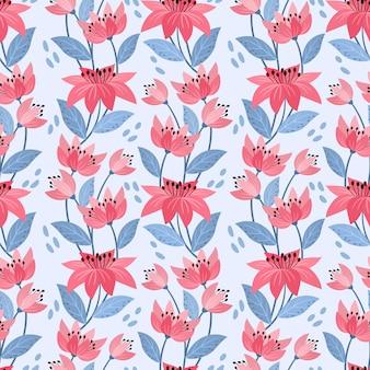 Kleurrijke hand tekenen bloemen naadloze patroon voor stof textiel behang.