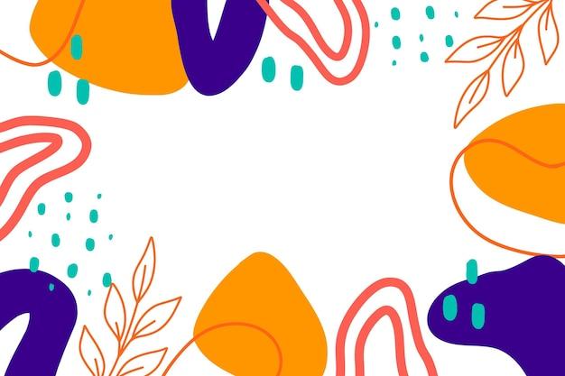 Kleurrijke handgetekende vormen achtergrond