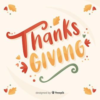 Kleurrijke happy thanksgiving belettering
