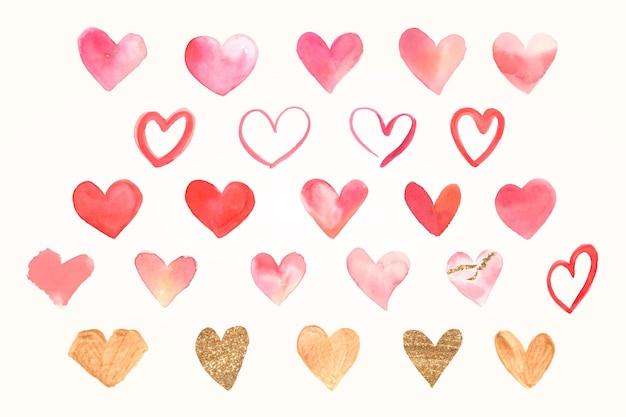 Kleurrijke hartsticker valentijnscollectie