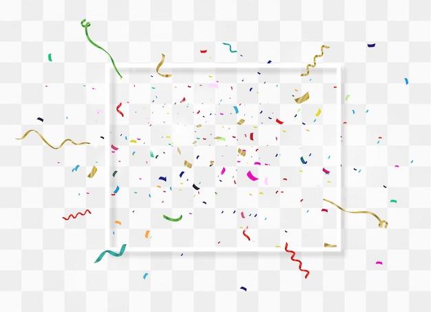 Kleurrijke heldere confetti geïsoleerd. feestelijke illustratie.