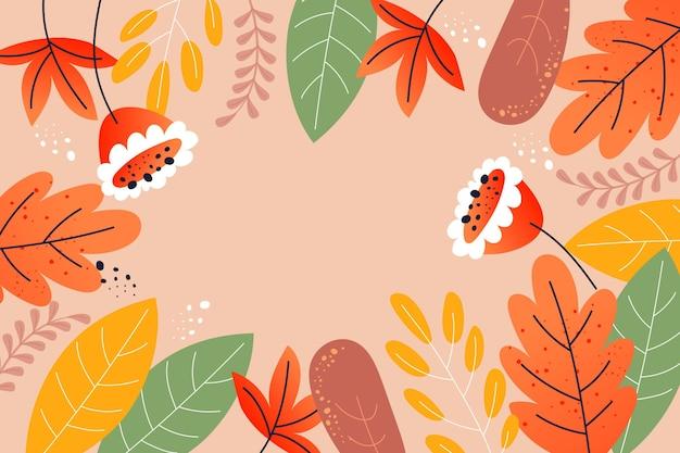 Kleurrijke herfst achtergrond