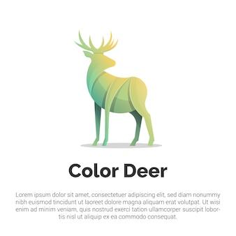 Kleurrijke herten logo sjabloon