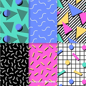 Kleurrijke het patrooninzameling van memphis