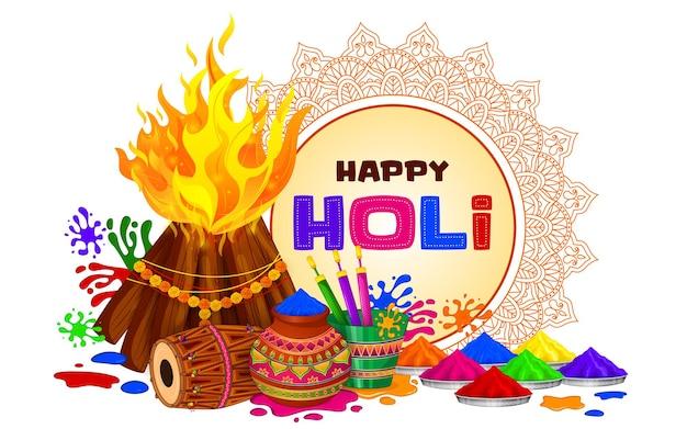 Kleurrijke holi-groet, festival van kleuren