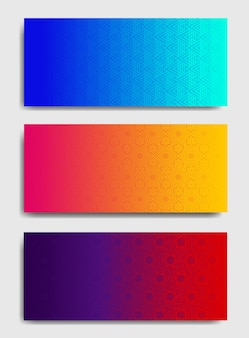 Kleurrijke horizontale achtergrondsjablonen.