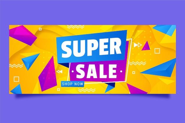 Kleurrijke horizontale banner te koop