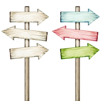 Kleurrijke houten pijlen