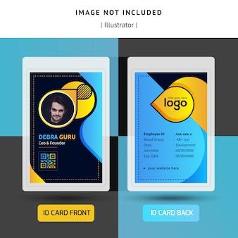 Kleurrijke identificatie of identiteitskaart sjabloonontwerp voor office