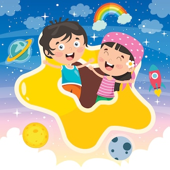 Kleurrijke illustratie voor gelukkige kinderdag