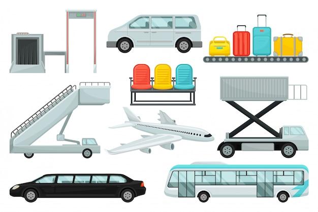 Kleurrijke illustraties in stijl op een witte achtergrond.