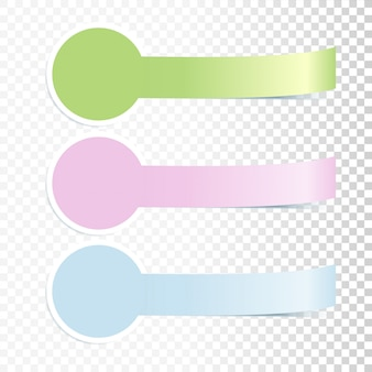 Kleurrijke incurved banners