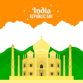 Kleurrijke indiase republiek dag