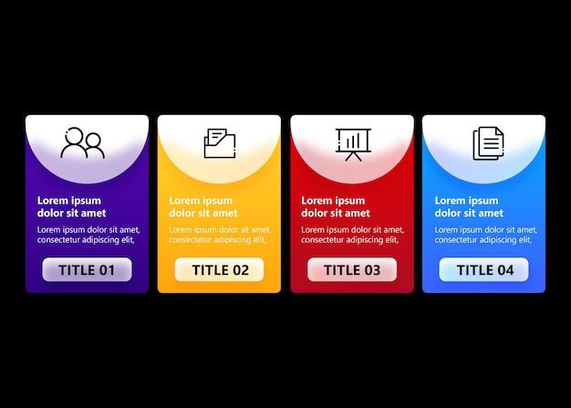 Kleurrijke infographic met 4 opties