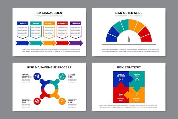 Kleurrijke infographic risicobeheer