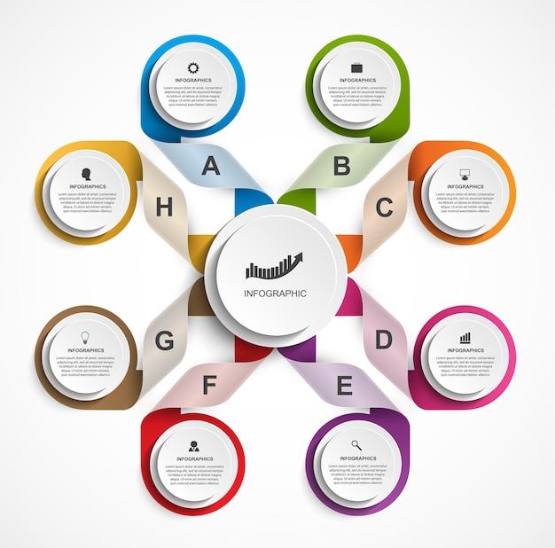 Kleurrijke infographic sjabloon