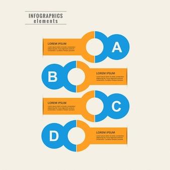 Kleurrijke infographic template