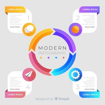 Kleurrijke infographic tijdlijn